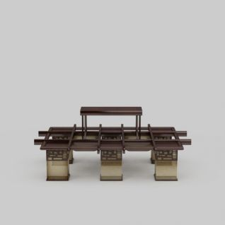 中式实木大吊灯3d模型3d模型