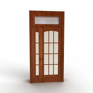 现代实木门3d模型