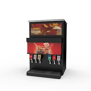 3d自动饮料售卖机模型