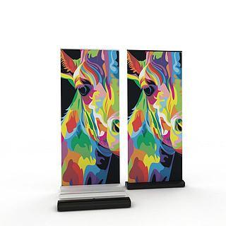 艺术画装饰品3d模型