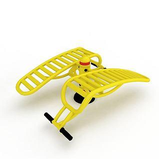 公园健身器材3d模型