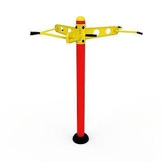 健身器材引体训练器3d模型