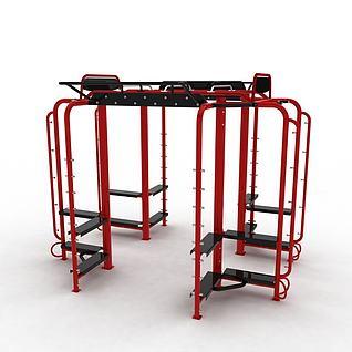 大型健身器材3d模型