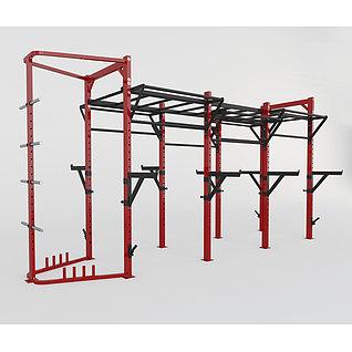 健身房设备3d模型