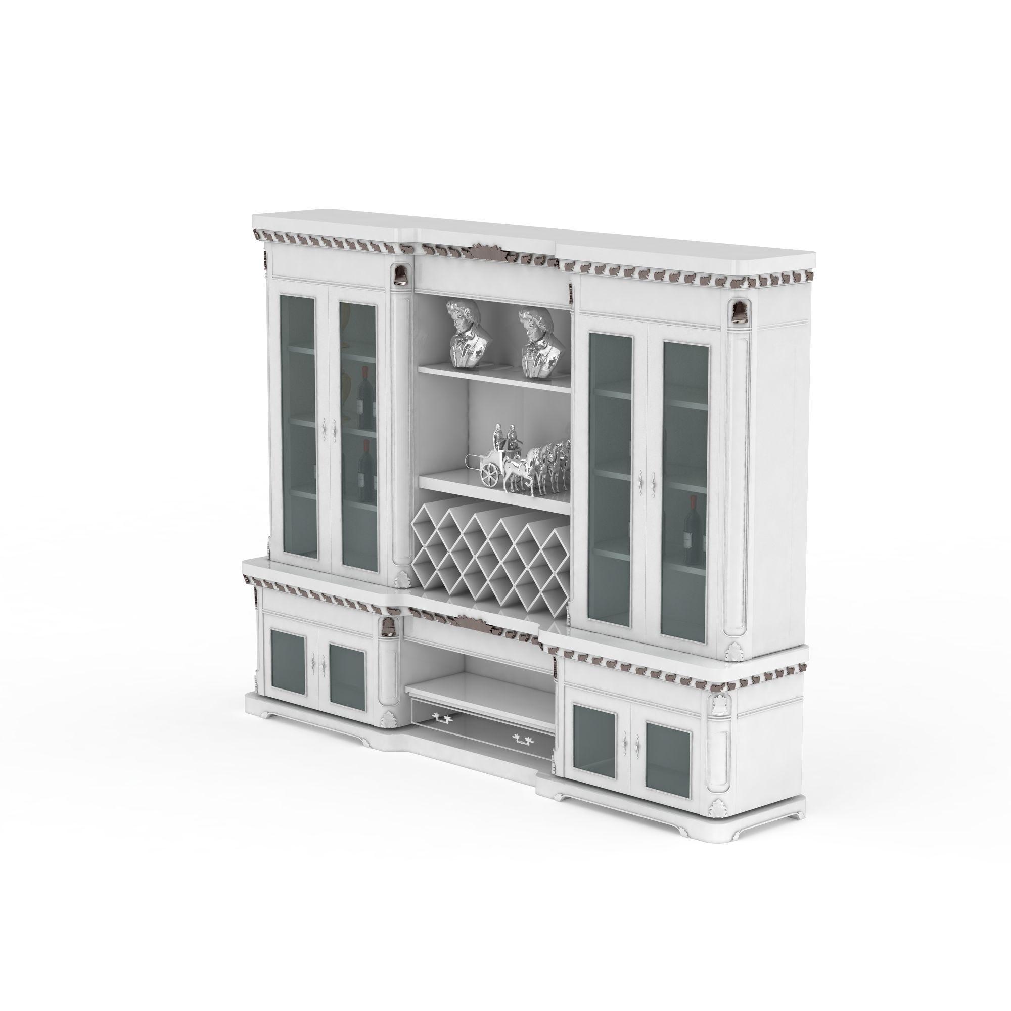 欧式酒柜高清图详情 设计师 3d学院 模型名称 欧式酒柜3d模型 学院id