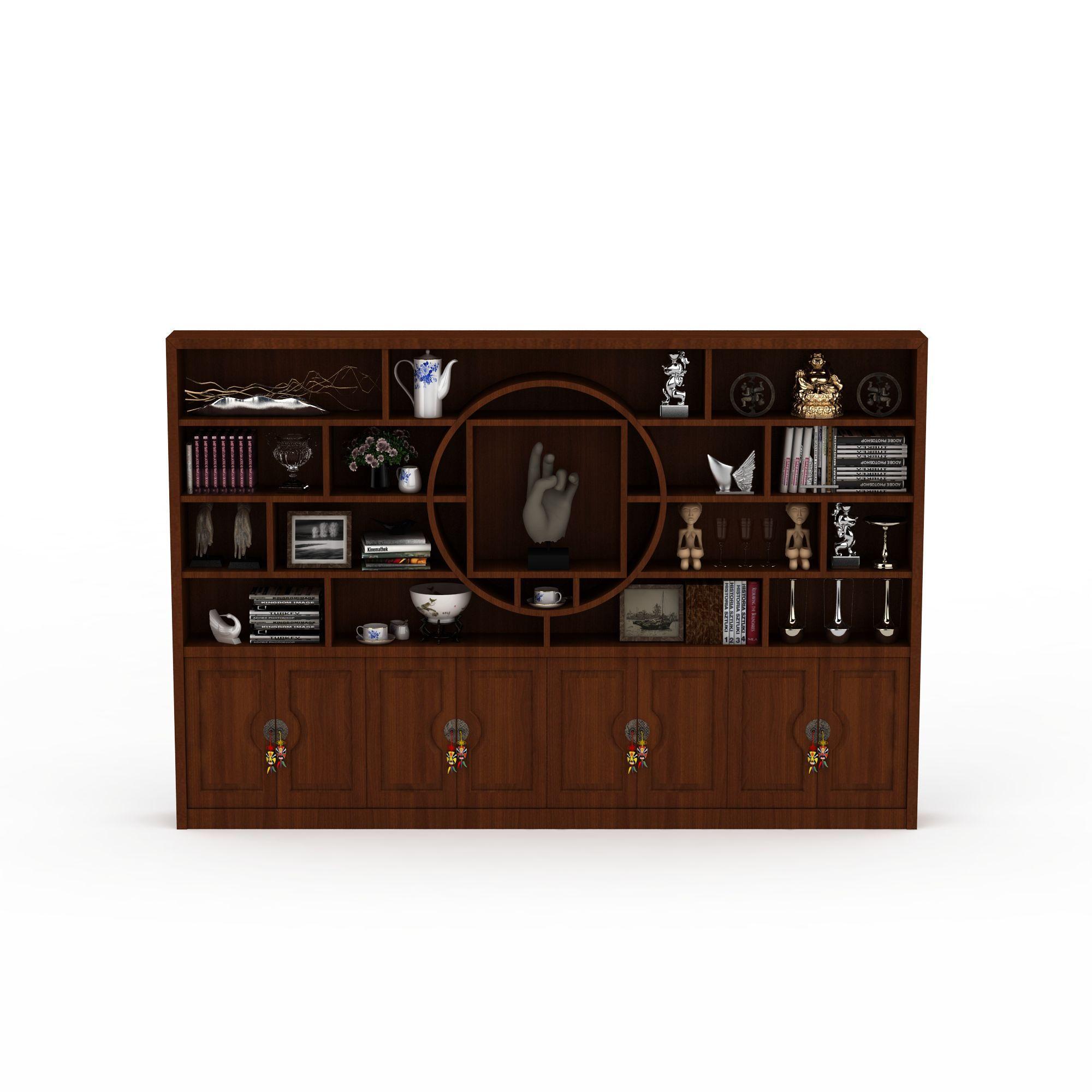 上传时间 2015/12/24  关键词:书柜3d模型中式风格书柜3d模型实木书柜