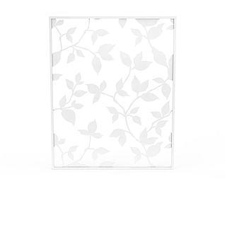 现代白色印花纱窗3d模型3d模型