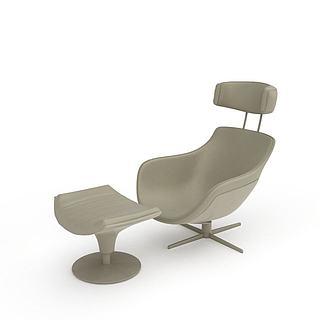 现代办公转椅3d模型
