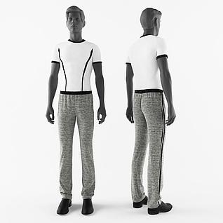 现代男装模特3d模型