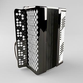 手风琴3d模型