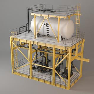 工厂设备组件3d模型