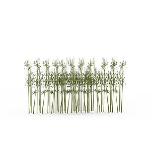 公園竹子模型