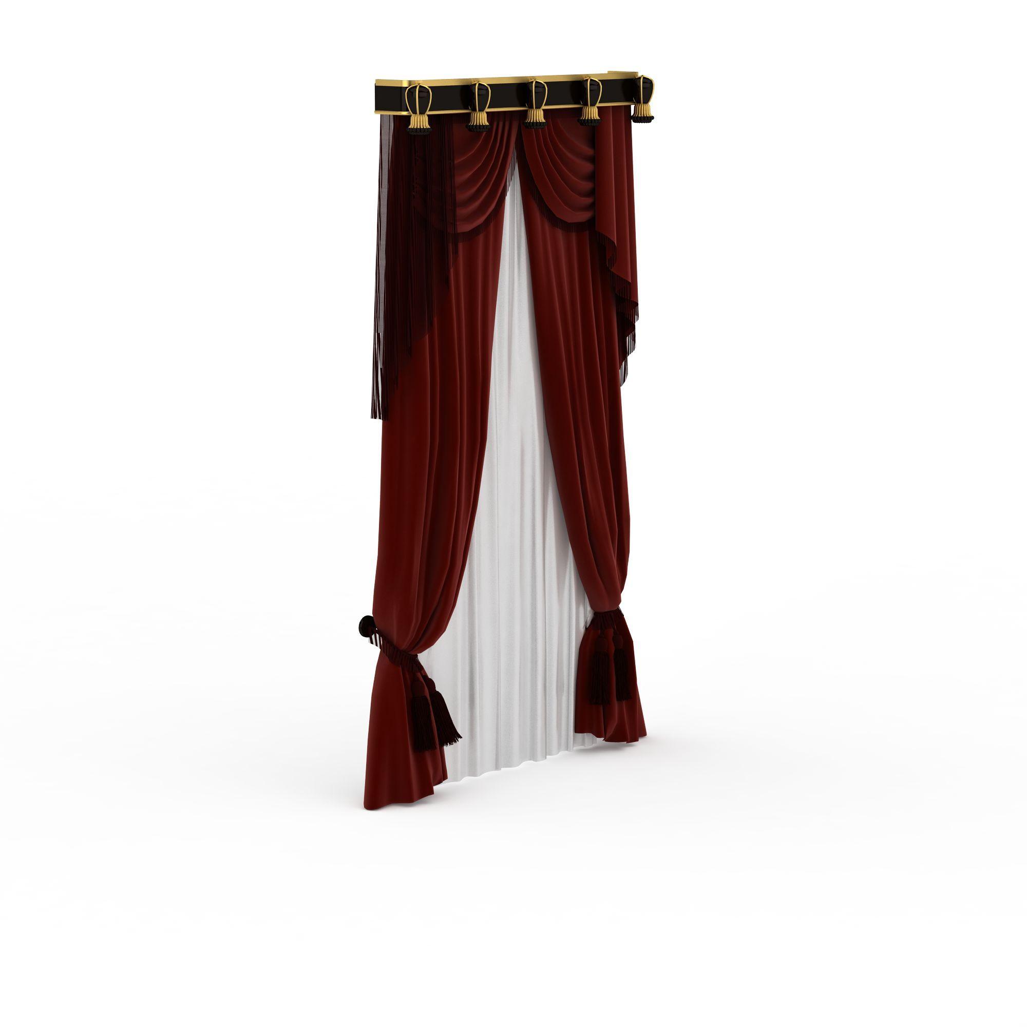 欧式窗帘高清图详情 设计师 3d学院 模型名称 欧式窗帘3d模型 学院id