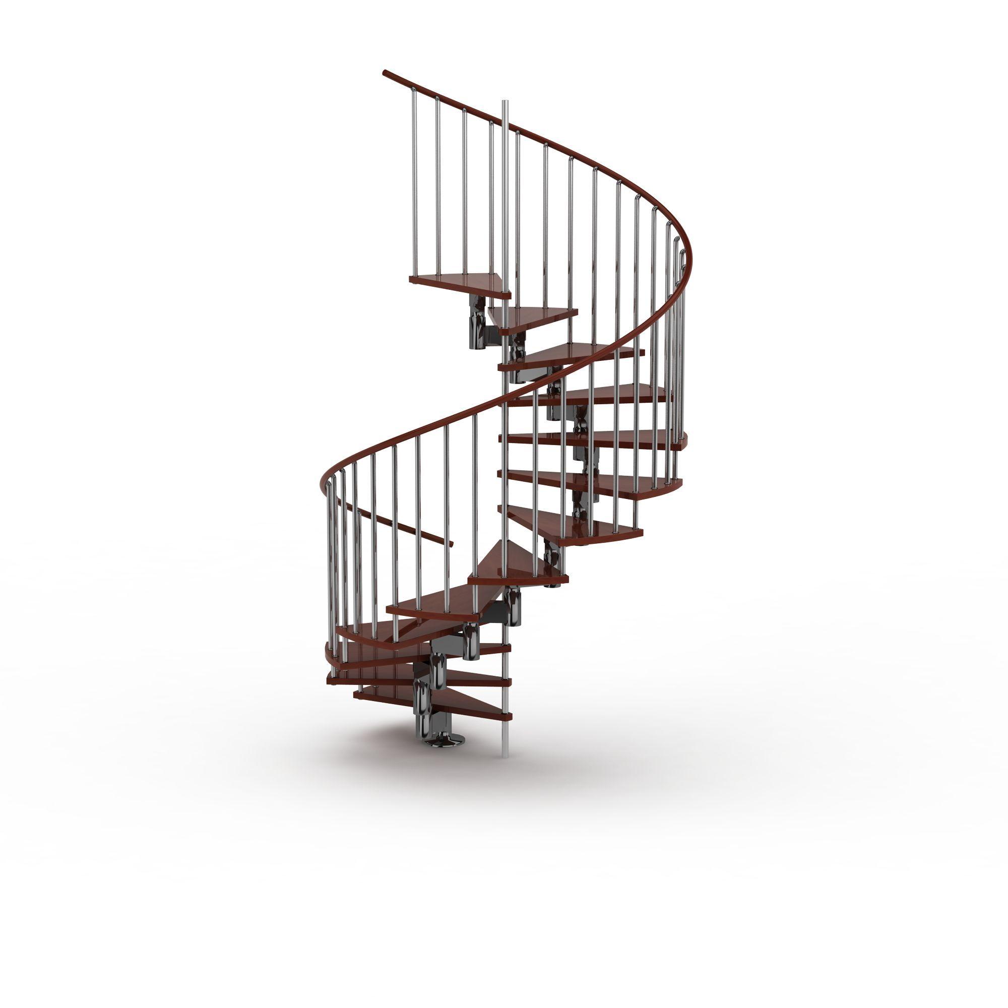 实木旋转楼梯图片展示