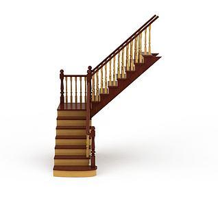 客厅楼梯3d模型