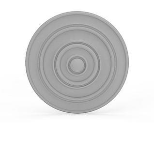 石膏雕花3d模型