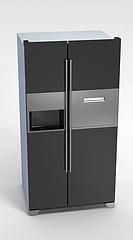 双开门冰箱3D模型3d模型