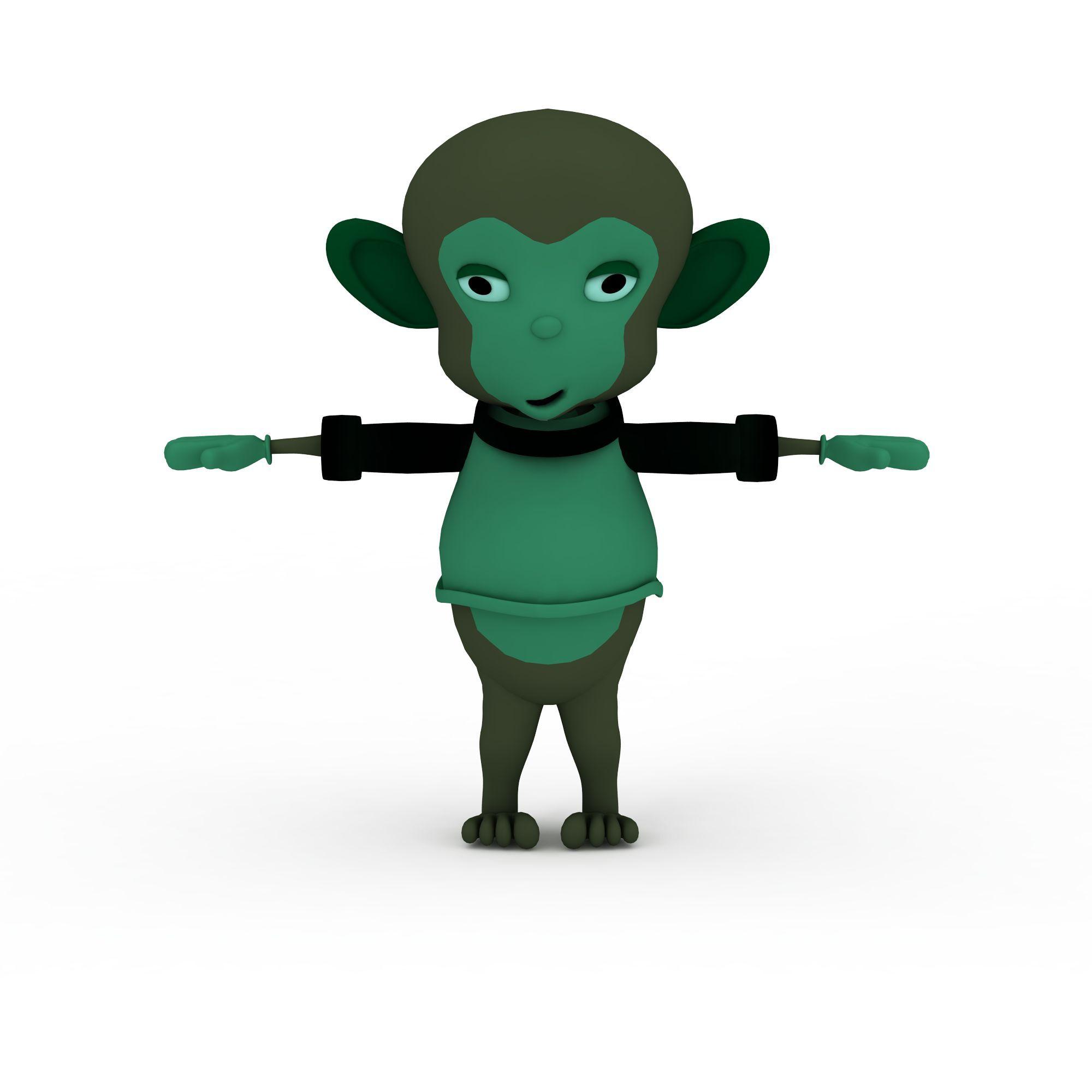 动物 爬行类 猴子3d模型 猴子png高清图  猴子高清图详情 设计师 3d