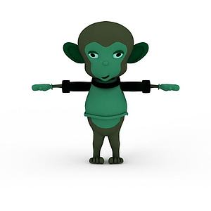 3d玩具<font class='myIsRed'>猴子</font>模型