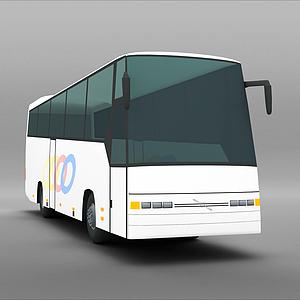 3d大巴车模型