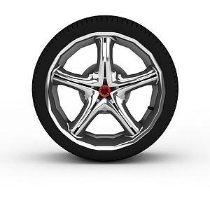 小汽车公路轮胎模型