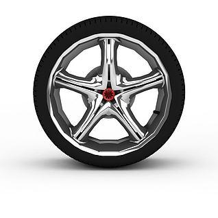 汽车备胎3d模型