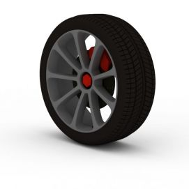 3d<font class='myIsRed'>汽车</font>带卡钳轮胎模型
