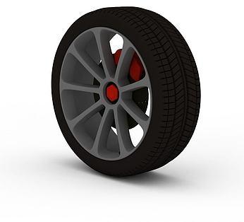 汽车带卡钳轮胎