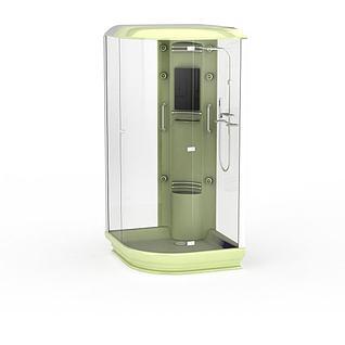 淋浴房隔断3d模型