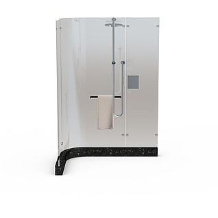 整体淋浴房3d模型