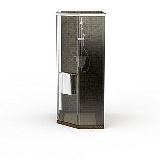 简易整体淋浴房3d模型