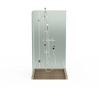 简易淋浴房3d模型