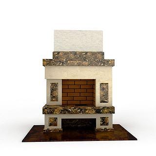 欧式风格壁炉3d模型