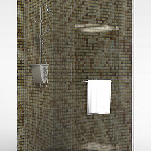 简易整体淋浴房模型