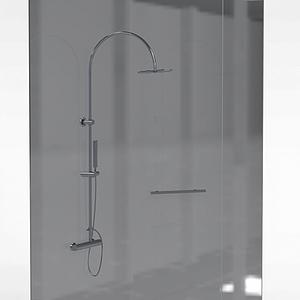 淋浴房隔断模型