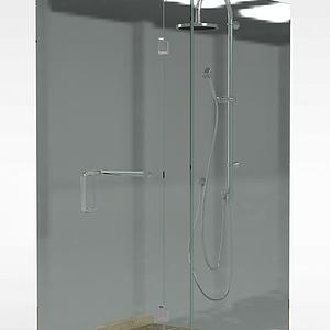简易淋浴房模型