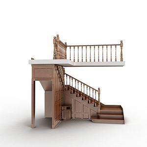 室内楼梯模型