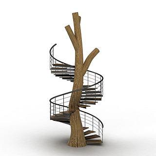 旋转<font class='myIsRed'>楼梯</font>3d模型