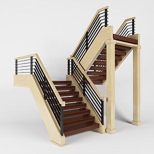 餐厅楼梯3d模型