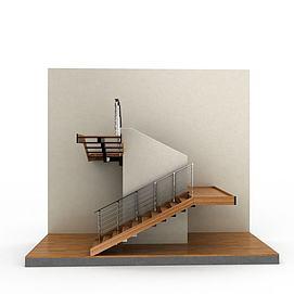 3d实木<font class='myIsRed'>楼梯</font>模型