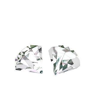 无色透明钻石3d模型