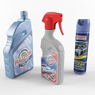 汽车清洁剂3d模型