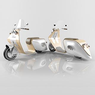 现代电动车3d模型
