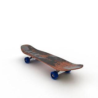 轮滑板3d模型