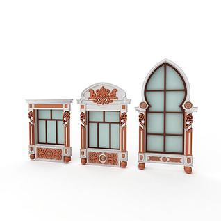 欧式窗3d模型
