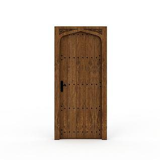 装饰木门3d模型