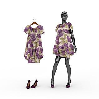 女装模特3d模型