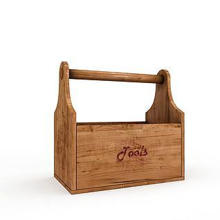 古代木质食盒3d模型