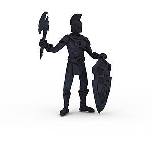 3d人物雕塑模型