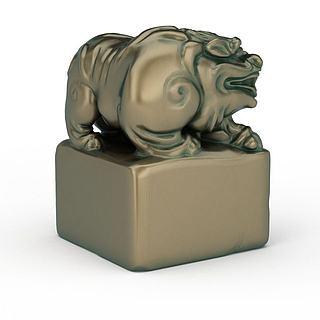 <font class='myIsRed'>动物</font>青铜像3d模型